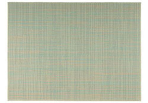 "APS-Germany Placemat ""Tao""   Fijne band   PVC   45 cm x 33 cm   verpakt per 6 stuks   Beige/Turquoise"