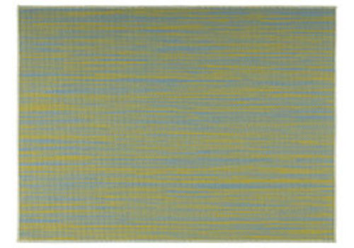 "APS-Germany Placemat ""Tao""   Fijne band   PVC   45 cm x 33 cm   verpakt per 6 stuks   Geel/Lichtblauw"