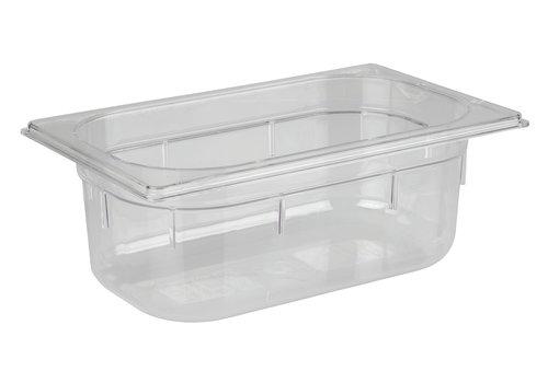 APS-Germany GN container   1/4 GN   Polycarbonaat   26.4 cm x 16.2 cm x H 10 cm   2.50 liter   Transparant