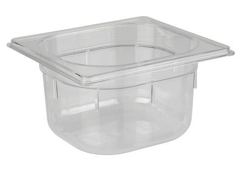 APS-Germany GN container   1/6 GN   Polycarbonaat   17.6 cm x 16.2 cm x H 10 cm   1.50 liter   Transparant