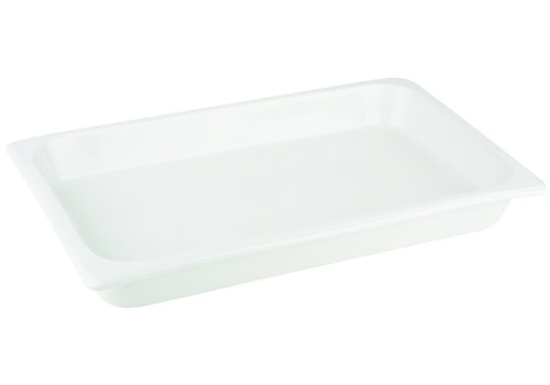 APS-Germany GN container | 1/1 GN | Porselein | 53 cm x 32.5 cm x H 6 cm | 7.10 liter