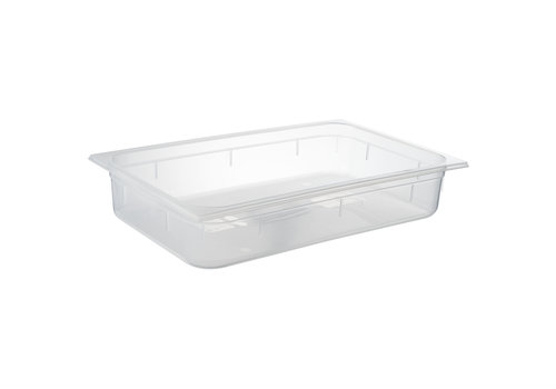 APS-Germany GN container | 1/1 GN | Polypropyleen | 53 cm x 32.5 cm x H 10 cm diep | 13 liter | Transparant