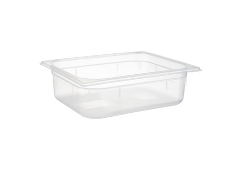 APS-Germany GN container | 1/2 GN | Polypropyleen | 32.5 cm x 26.5 cm x H 10 cm | 5.90 liter | Transparant