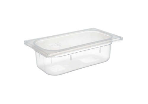 APS-Germany GN container | 1/3 GN | Polypropyleen | 32.5 cm x 17.6 cm x H 6.5 cm | 2.40 liter | Transparant