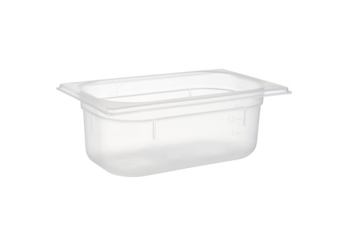 APS-Germany GN container | 1/4 GN | Polypropyleen | 26.5 cm x 16.2 cm x H 10 cm | 2.50 liter | Transparant