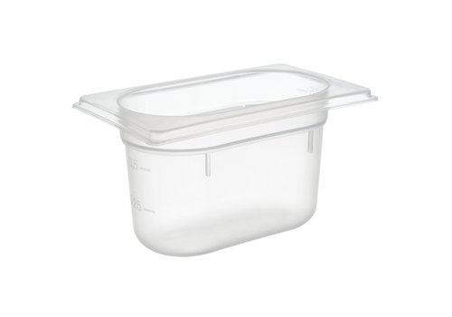 APS-Germany GN container | 1/9 GN | Polypropyleen | 17.6 cm x 10.8 cm x H 10 cm | 1 liter | Transparant