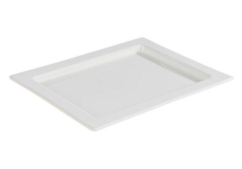 "APS-Germany GN serveerplateau ""Frames""   1/2 GN   Porselein   32.5 cm x 26.5 cm x H 2 cm"