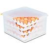 APS-Germany Eierbox met luchtdichte deksel | PE | Capaciteit 4 trays van 30 eieren | 8 trays geleverd | 35.4 cm x 32.5 x H 20