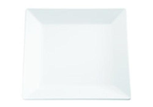"APS-Germany Serveerplateau ""Pure"" | Melamine |  18 cm x 18 cm x H 2.5 cm | Wit"