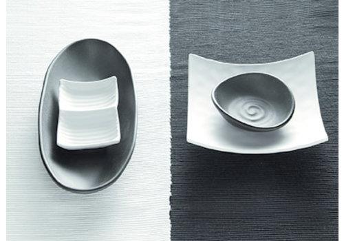 "APS-Germany Schaaltje ""Zen"" | Melamine | 17.5 cm x  15.5 cm x H 5.5 cm | 0.2 liter | Wit"