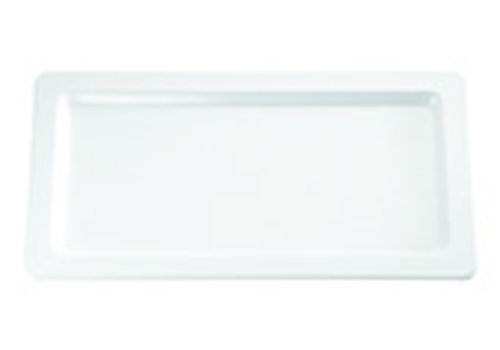 "APS-Germany Serveerschaal ""Apart""  Melamine   GN 1/1   53 cm x 32.5 cm x H 2.5 cm   Wit"