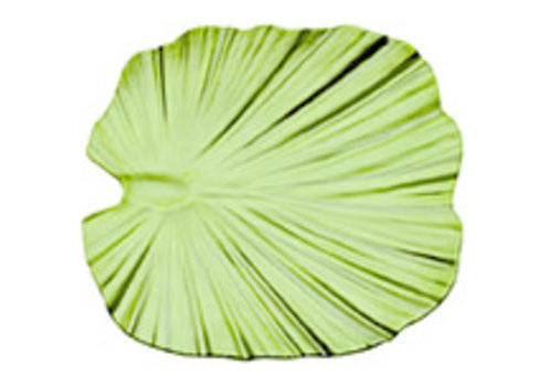 """APS-Germany Palmbladschaal """"Natural Collection""""   Melamine   27 cm x 27 cm x H 4.5 cm   Groen"""