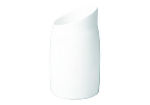 "APS-Germany Dressingpot ""Casual"" | Melamine | Ø 12 cm x H 21.5 cm | 1 liter | Wit"