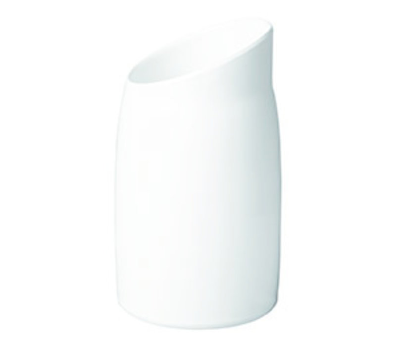 "Dressingpot ""Casual"" | Melamine | Ø 12 cm x H 21.5 cm | 1 liter | Wit"