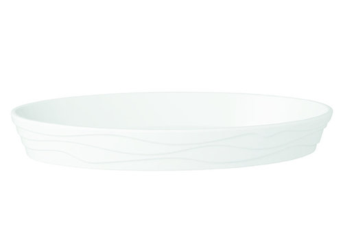 "APS-Germany Serveerschaal ""Classic Wave""   Melamine   27 cm x 17 cm x H 4 cm   0.8 liter   Wit"