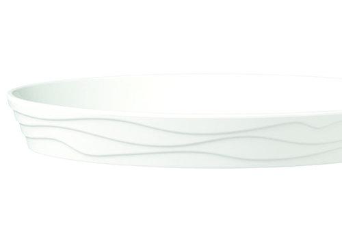 "APS-Germany Serveerschaal ""Classic Wave""   Melamine   34 cm x 21 cm x H 4.5 cm   1.3 liter   Wit"