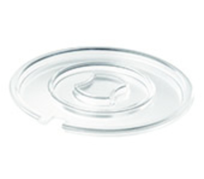 "Deksel ""Float"" | SAN  | Ø 20.5 cm x H 1.3 cm | Met lepeluitsparing"