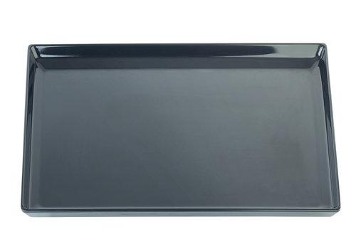 "APS-Germany Serveerplateau ""Float""   Melamine   1/1 GN   53 cm x 32.5 cm x H 3 cm   Zwart"
