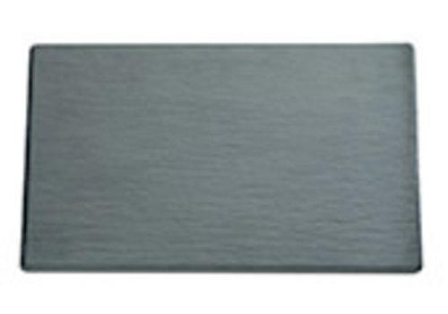 "APS-Germany Serveerplateau ""Slate"" | Melamine | 1/1 GN | 53 cm x 32.5 cm x H 1 cm | Zwart"
