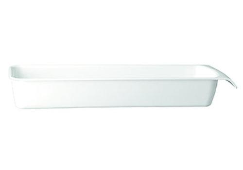 "APS-Germany Schaal ""Cascade"" | Melamine | 2/4 GN | 53 cm x 16.2 cm x H 7.5 cm | 3.65 liter | Wit"