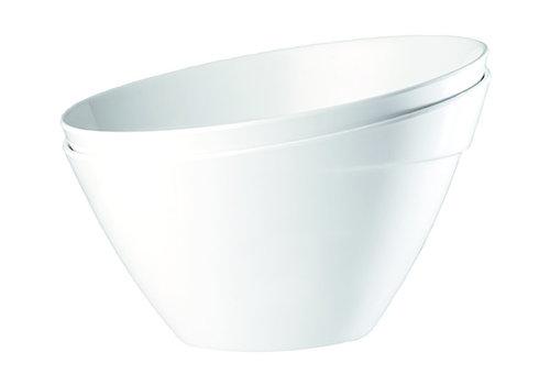 "APS-Germany Schaal ""Balance"" | Melamine| Ø 24.5 cm x H 15 cm | 2.5 liter | Wit"