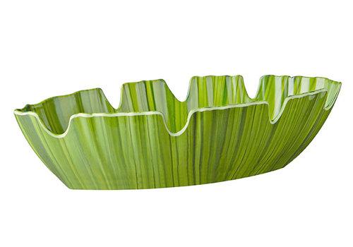 "APS-Germany Palmbladschaal ""Natural Collection""   Melamine    40 cm x 18.5 cm x H 10 cm   1.8 liter   Groen"