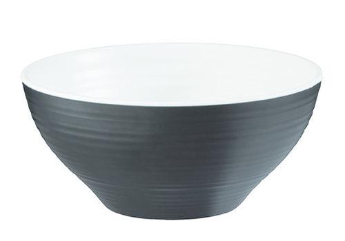 "APS-Germany Schaal ""Halftone"" | Melamine | Ø 16.5 cm x  H7.5 cm | 0.65 liter | Zwart/Wit"