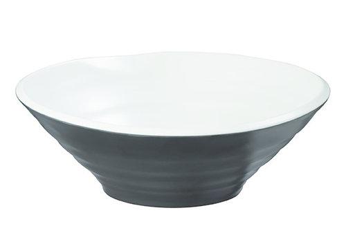 "APS-Germany Schaal ""Halftone"" | Melamine | Ø 26 cm x H 9 cm | 1.5 liter | Zwart/Wit"