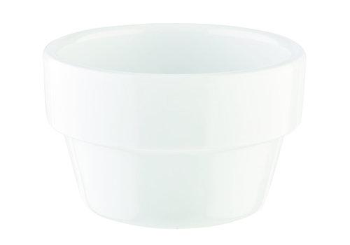 "APS-Germany Schaaltje ""Flower Pot"" | Melamine | Ø 6 cm x H 3.5 cm | 0.04 liter | Wit"