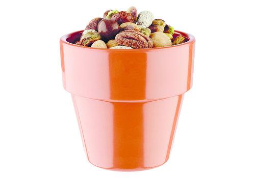 "APS-Germany Schaaltje ""Flower Pot"" | Melamine | Ø 9 cm x H 8.5 cm | 0.30 liter | Terracotta"