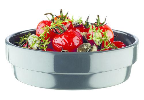"APS-Germany Schaaltje ""Flower Pot"" | Melamine | Ø 12 cm x H 3.5 cm | 0.20 liter | Antraciet"