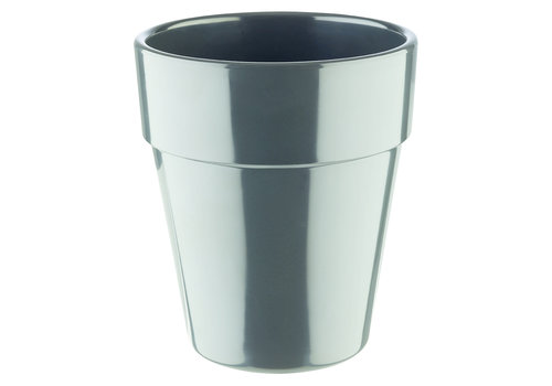 "APS-Germany Schaal ""Flower Pot"" | Melamine | Ø 13 cm xH 15 cm | 1 liter | Antraciet"