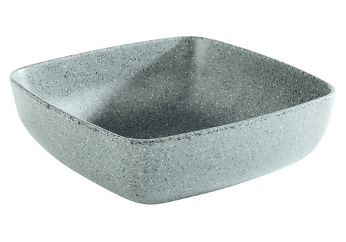"APS-Germany Schaal ""Frida Stone""   Melamine   16.5 cm x 16.5 cm x H 5.5 cm   0.85 liter   Antraciet"