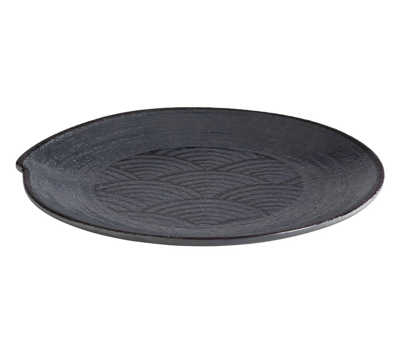 "Bord ""Dark Wave""   Melamine   Ø 22 cm x H 2 cm"
