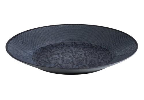 "APS-Germany Schaal ""Dark Wave""   Melamine   Ø 40.5 cm x H 5.5 cm"