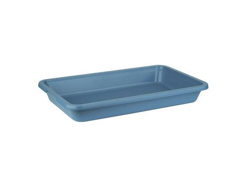"""APS-Germany GN container """"Indu""""   Aluminium   GN 1/1   53 cm x 32.5 cm x H 7.5 cm   7.50 liter   Blauw"""