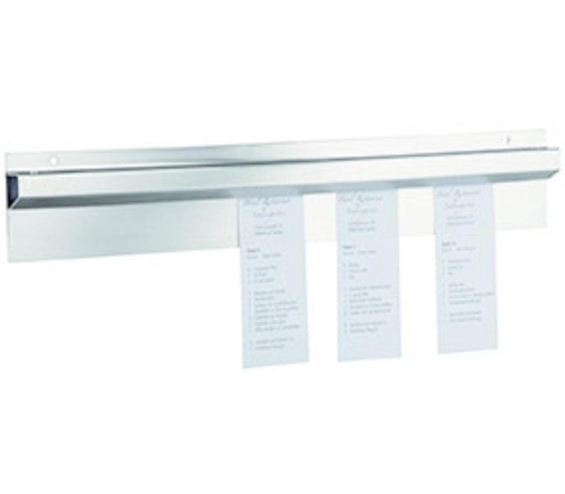 Bonnenhouder | RVS | 40 cm x 8 cm x H 2 cm