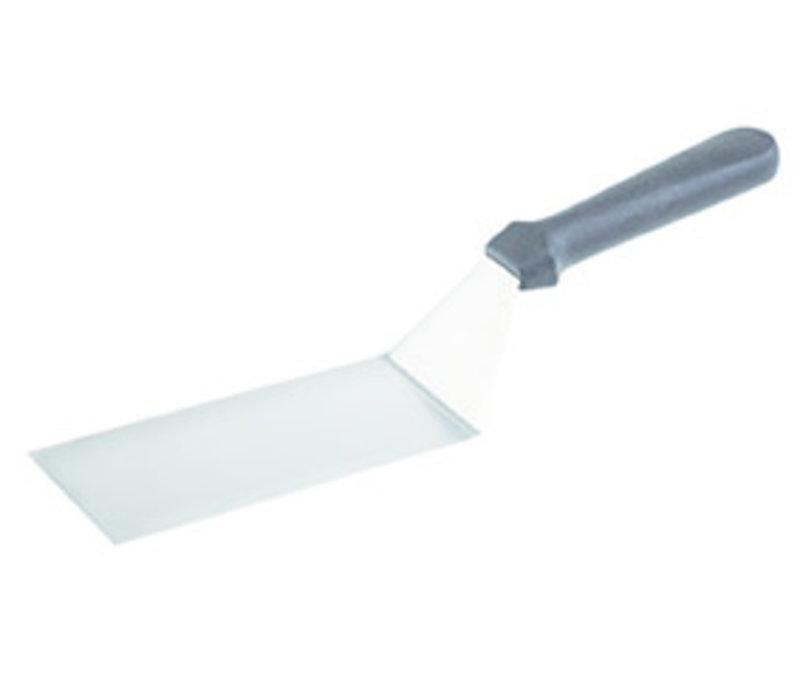 "Draai-/bakspatel ""Blue""| PP RVS | 20 cm x 7.5 cm | Handgreep 33 cm | Gebogen"