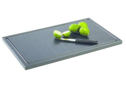 "APS-Germany Snijplank ""Bar"" | PE | 50 cm x 30 cm x H 2 cm | Anti-slip | Zwart"