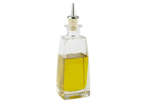 APS-Germany Glazen flesje met mondstuk | Glas | 6 cm x 5 x H 20 cm | 0.20 liter | Ideaal voor likeur/olijfolie/azijn