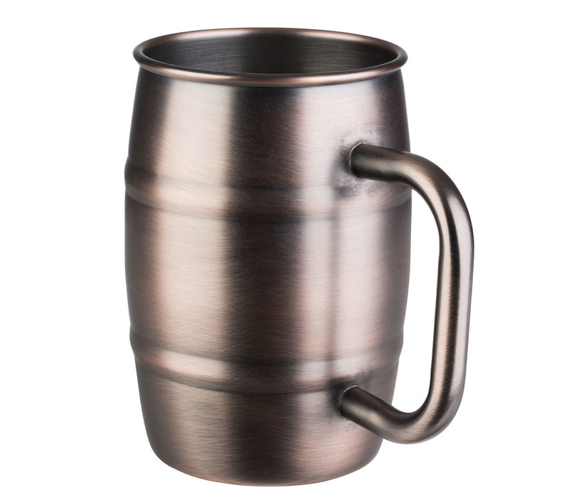 """Beer Mug"" drinkbeker | RVS | Ø 8.5 cm x H 13 | 0.50 liter | Mat koperkleurig"