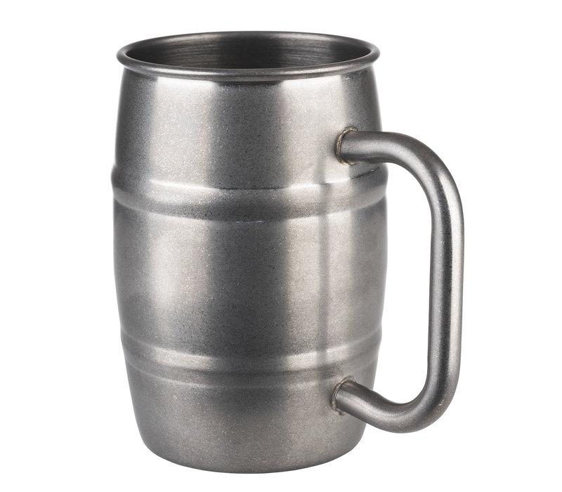 """Beer Mug"" drinkbeker   RVS   Ø 8.5 cm x H 13   0.50 liter   Mat RVS"