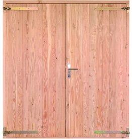 Opgeklampte deur dubbel onbehandeld
