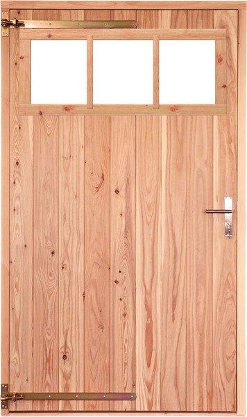 Opgeklampte deur XL enkel met bovenraam onbehandeld, linksdraaiend