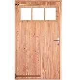 Opgeklampte deur XL enkel met bovenraam onbehandeld, rechtsdraaiend
