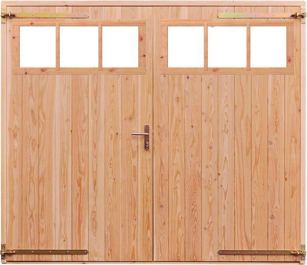 Opgeklampte deur XL dubbel met bovenraam onbehandeld