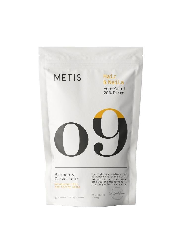 METIS HAIR & NAILS 09 - VITAMINE - REFILL 72 CAPSULES