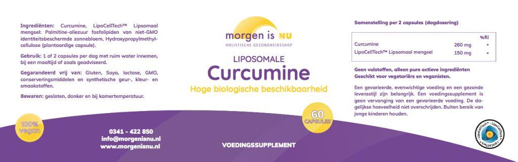 Morgen is nu Liposomale Curcumine