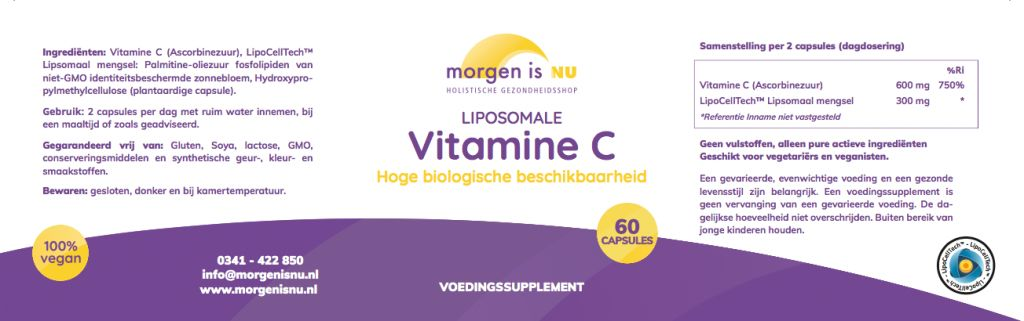 Morgen is nu Liposomale Vitamine C