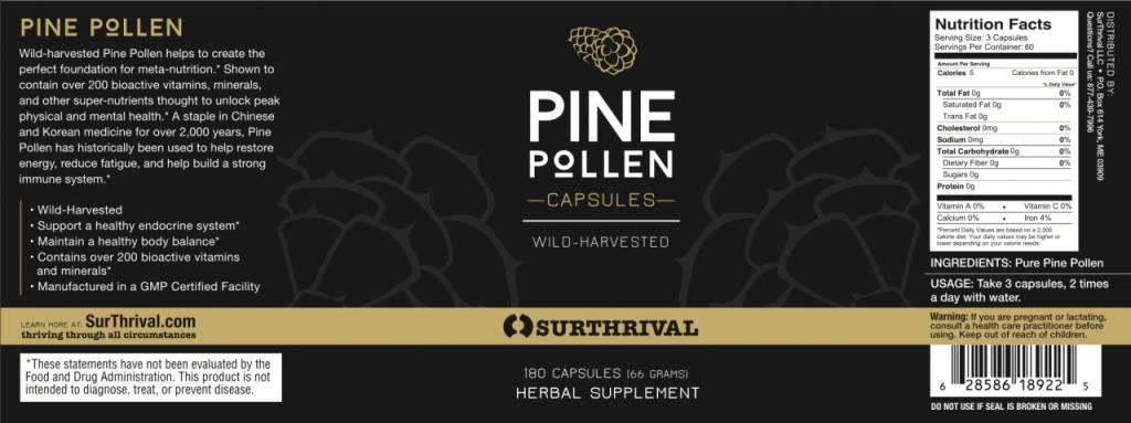 Pine Pollen Capsules